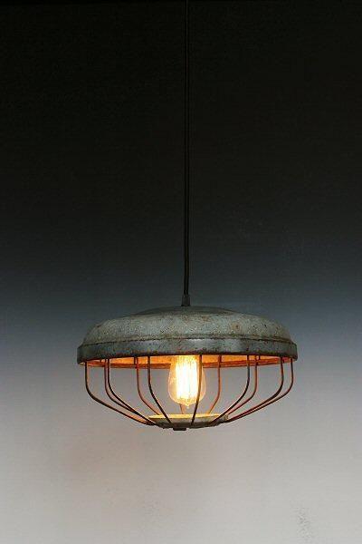 Just custom lighting listings view vintage industrial pendant lighting upcycled chicken feeder hanging light fixture