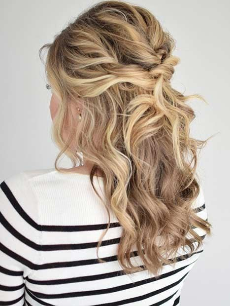 Half Up Half Down Wedding ceremony Coiffure for Wedding ceremony with Medium Size in 2019 #hair…