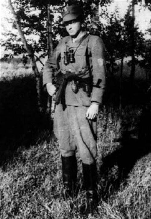 """Szer. Stanisław Duczymiński """"Niemira"""", żołnierz oddziału Czesława Czaplickiego """"Rysia"""". Aresztowany 1 listopada 1946, zwolniony po 6 miesiącach."""