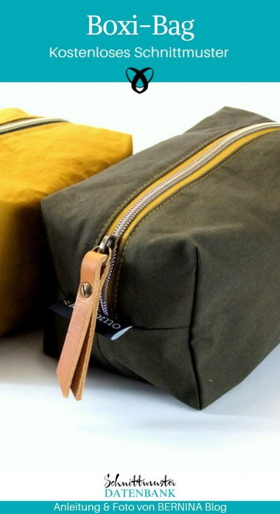 Boxibag Cosmetic Bag Square for Men Sewing Pattern Sewing Free Tutorial  #boxiba…