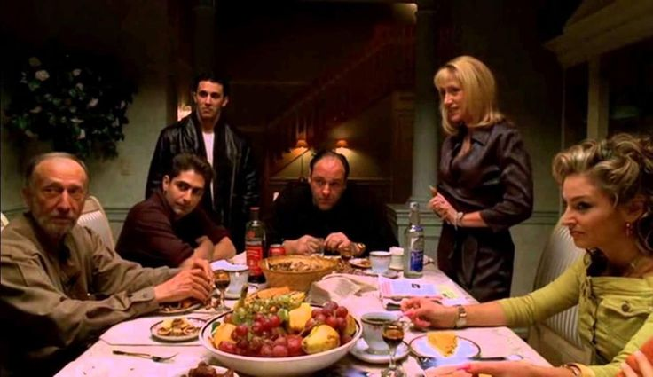 """""""The Sopranos: He Is Risen"""" 2001 -  It wouldn't be a Thanksgiving at the Sopranos without a little drama! After Tony decides to cancel their previous invitation for Ralph to attend Thanksgiving due to a feud, Carmela's story doesn't end holding up too well when Jackie Jr. shows up to the house to see Meadow. Carmela isn't too keen on seeing them together but the drama continues as Ralph seeks to switch families."""