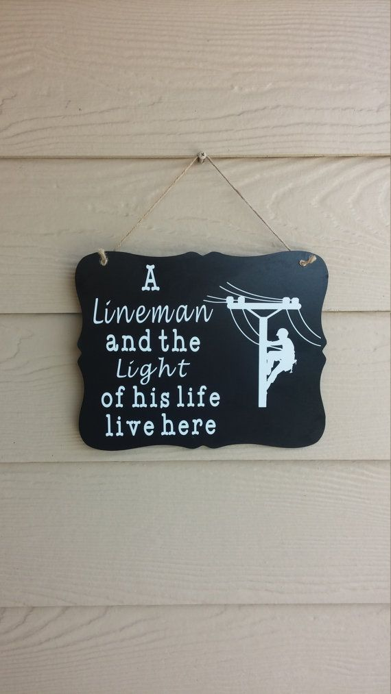 Lineman lives here sign by CrackerChild on Etsy