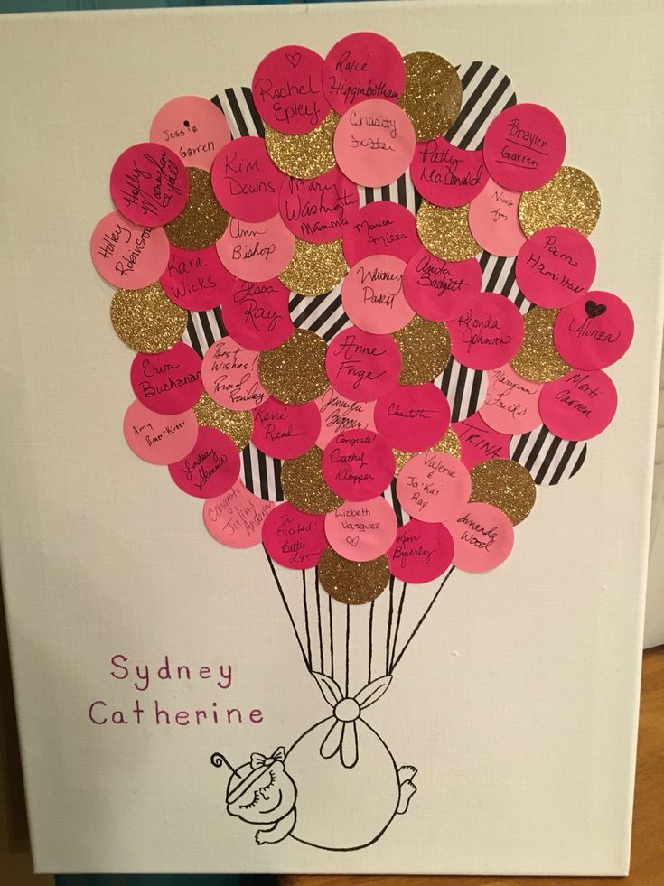 "Baby shower ""Guest Book."" Kate Spade themed."