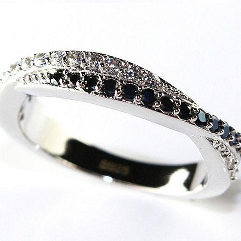 Vintage Gothic Black Rose Flower Ring