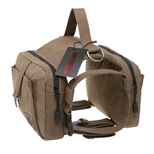 OneTigris Cotton Canvas Dog Pack Hound Travel Camping Hiking Backpack Saddle Bag Rucksack for Medium & Large Dog (Dog Pack) OneTigris http://www.amazon.com/dp/B00MQGL712/ref=cm_sw_r_pi_dp_u7hNvb11J691J