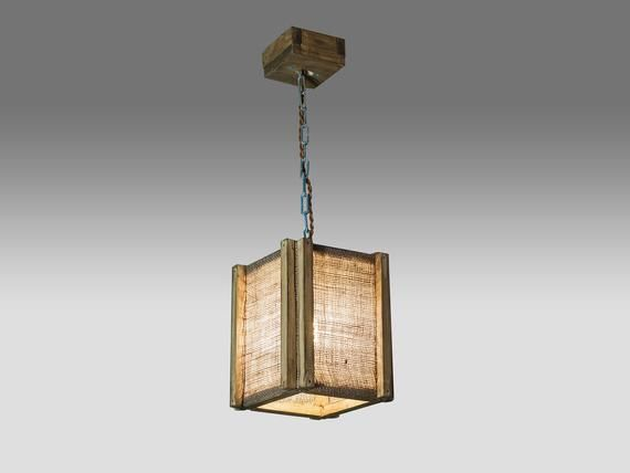 Handmade Products Cube Wood Lamp
