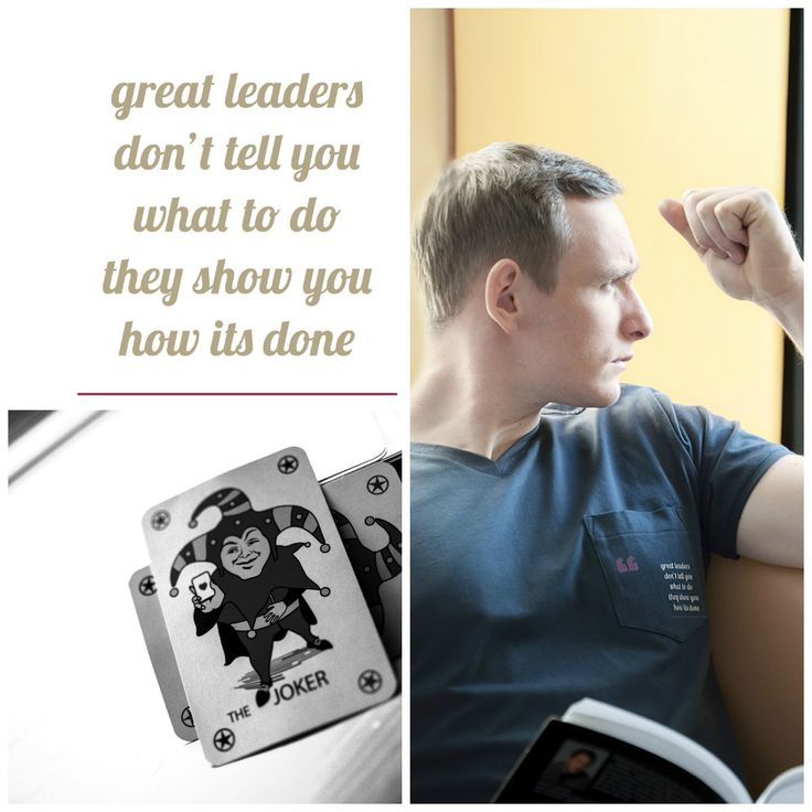 """""""Great leaders .."""" t-shirt for motivating man,gentleman leader and coach! From Motivation Factory Poland"""