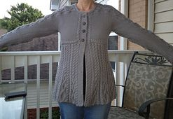Loved making this sweater…would make another!  MODIFICATIONS:  Read a lot of notes that indicated that this will grow and had a friend tell me to not make the large (which would have been my ...