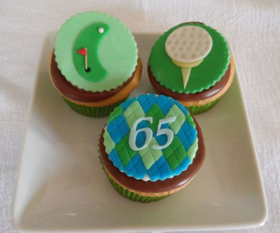 Golf Theme Fondant Cupcake Cookie Toppers on Etsy, $21.00
