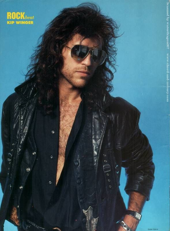 Kip Winger, from a pinup in the August 1989 issue of ROCK BEAT magazine