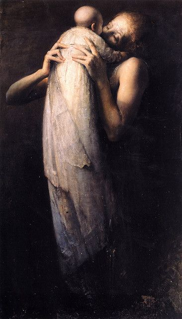 Woman with Child, 1978 by Odd Nerdrum