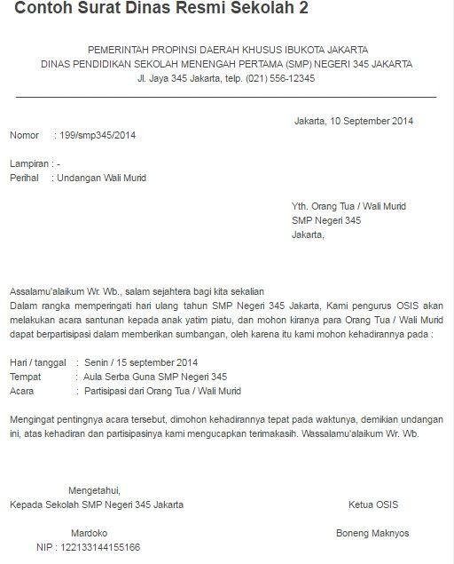 Contoh Surat Undangan Resmi Untuk Menteri Contoh Surat