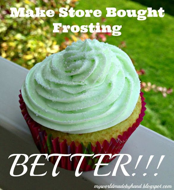 Making Store Bought Frosting BETTER!!!