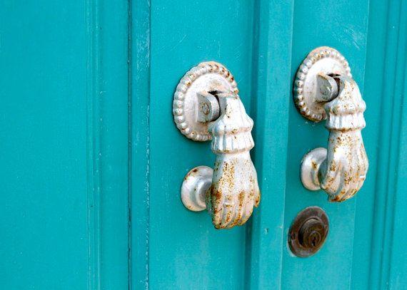Door Photography  Turquoise Door Photo  Portugal by VitaNostra, $15.00