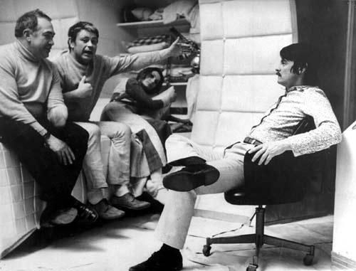 Donatas Banionis with Andrei Tarkovsky on the set of 'Solaris.' http://t.co/E7dTK1MBzP