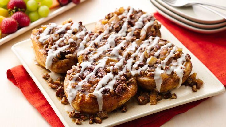 caramel apple sticky buns quick and easy breakfast pillsbury recipes ...