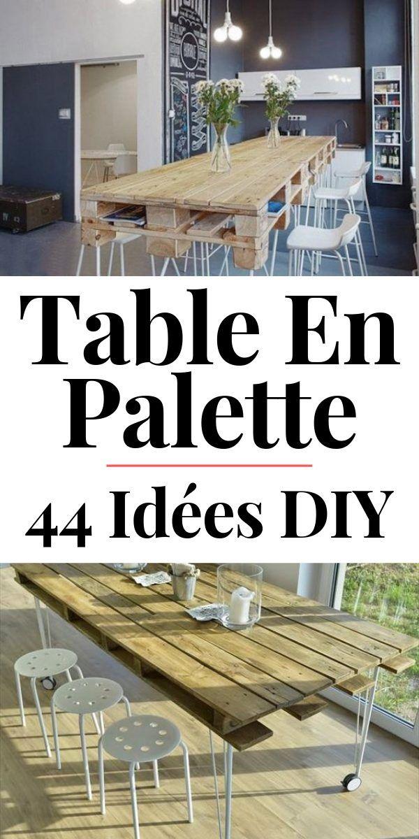 Table En Palette 44 Idees A Decouvrir Photos Avec Images