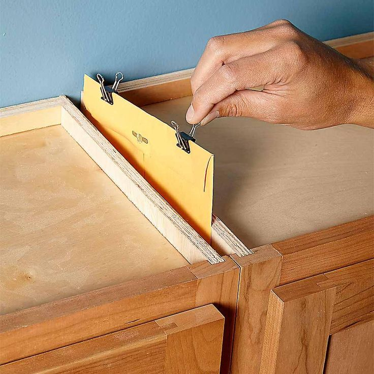 Cabinet Hidey-Hole - 13 Secret Hiding Places: http://www.familyhandyman.com/home-security/20-secret-hiding-places#6