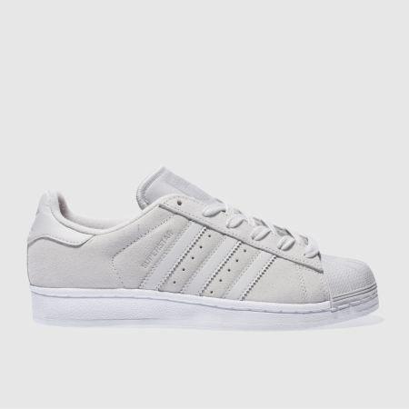 womens light grey adidas superstar trainers | schuh