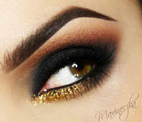 Maxineczka na bis! : TUTORIAL: Makijaż Sylwestrowy - Smokey Eye dla Odważnych ;) [DUŻO ZDJĘĆ]