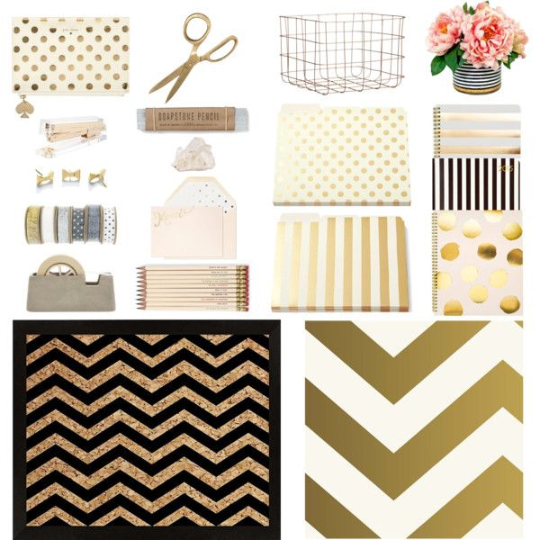 A home decor collage from April 2015 featuring contemporary home decor, self adhesive wallpaper and gold file folders. Browse and shop related looks.