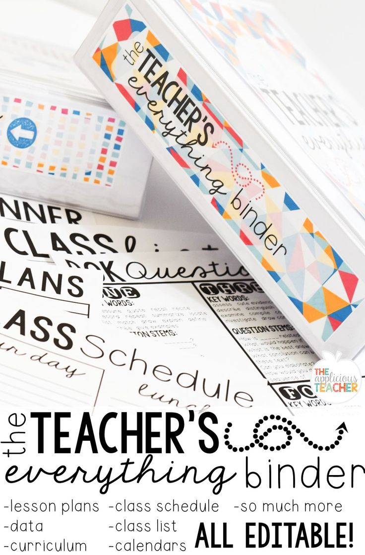 The Teacher's Everything Binder- seriously everything you need to get and stay organized this year! No more... wait... where did I put that!