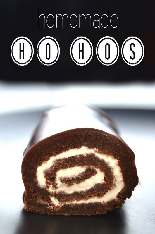 homemade ho hos; double chocolate brownies rolled with a marshmallow creme american buttercream covered in a dark chocolate ganache