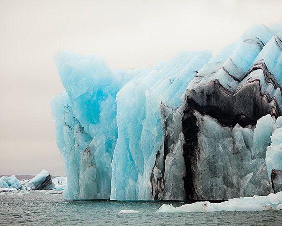 Island-Fotografie, Eisberg in isländischen Natur, blau Art, große Wandkunst, Winter, Gletscher Lagune, 11 x 14 Landschaft Fotografie-Druck