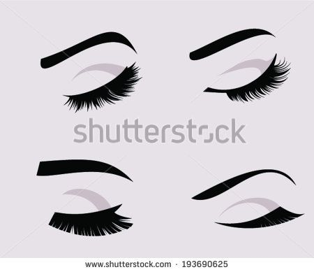 eyelashes coloring pages - photo#34