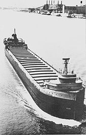SS Edmund Fitzgerald upbound and in ballast,  She went down in a November storm in 1975.  There were no survivors.
