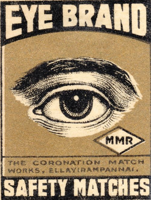 Vintage Eye Brand #vintage #matchbook #matches #matchbooks | pinned by www.amgdesign.nz