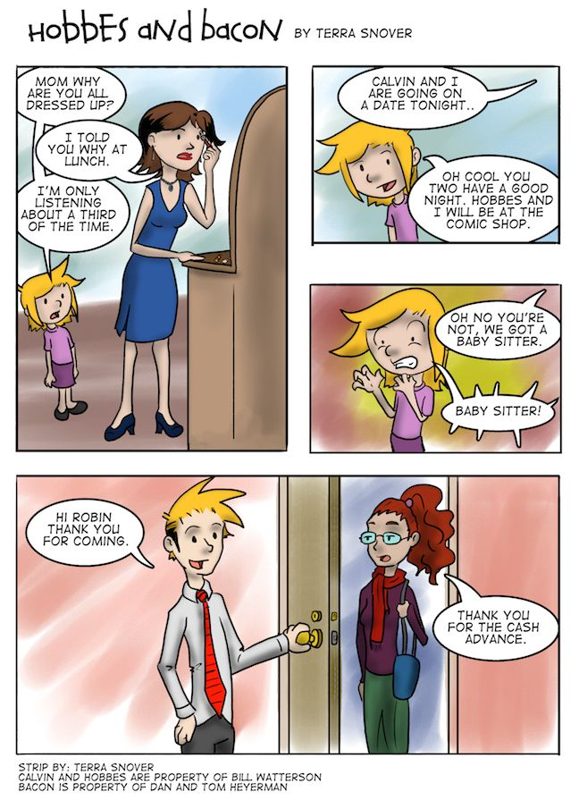 hobbes and bacon | Hobbes and Bacon - The Babysitter Part One