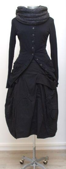 rundholz - Shirtjacke mit Taschen Wolljersey black - Winter 2015 - stilecht - mode für frauen mit format...
