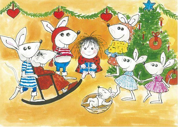 Billedresultat for cirkeline tegning mus jul