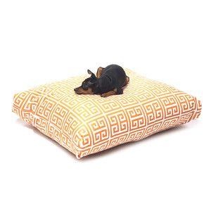 Pet Bed Tangerine White