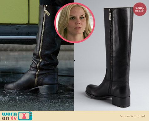 Emma's black leather boots on Once Upon a Time.  Outfit Details: http://wornontv.net/38620/ #OUAT