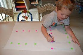 Liga pontos na cartolina.Movimentos amplos e coordenados ( horizontal e vertical)        Liga pontos movimentos coordenados    ...