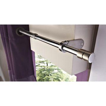 Fixation sur coffre de volets, sans perçage : embout cylindre pour tringle à rideau IB | Leroy Merlin