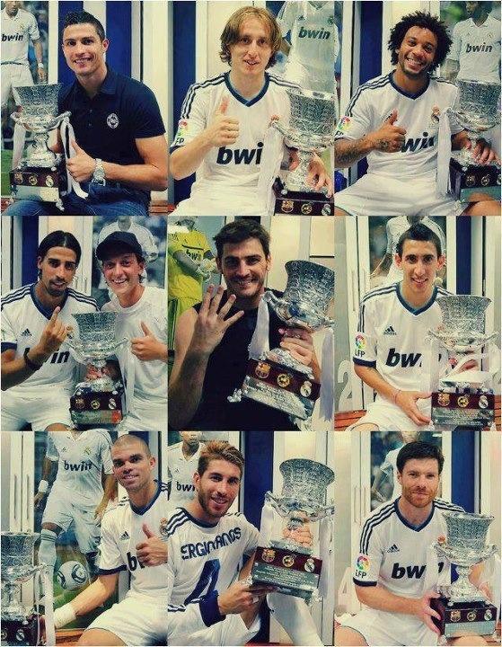 Campeones de la súper copa de España 2012... ¡Hala Madrid! =)