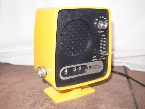 TOSHIBA デジタルクロックラジオ ドラム式回転時計 ラジオ内蔵 ジャンク RC-605 レトロポップ 50Hz_画像2