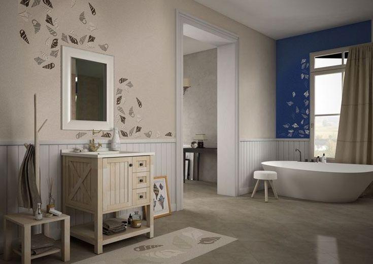 La soluzione proposta da Litokol per rinnovare le piastrelle di bagno si compone di due prodotti: Decor Primer Fondo, una pasta bicomponente per la rasatura, e Starlike Decor, che possono essere sovrapposti direttamente alle vecchie pareti piastrellate.