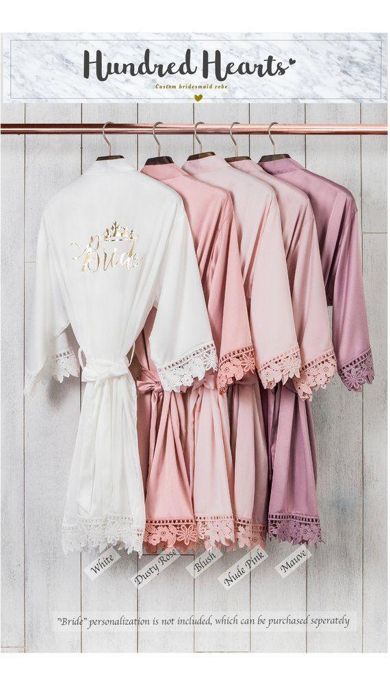 bridesmaid gift HIGH QUAILITY Customized Wedding Robe bridesmaid robe kimono