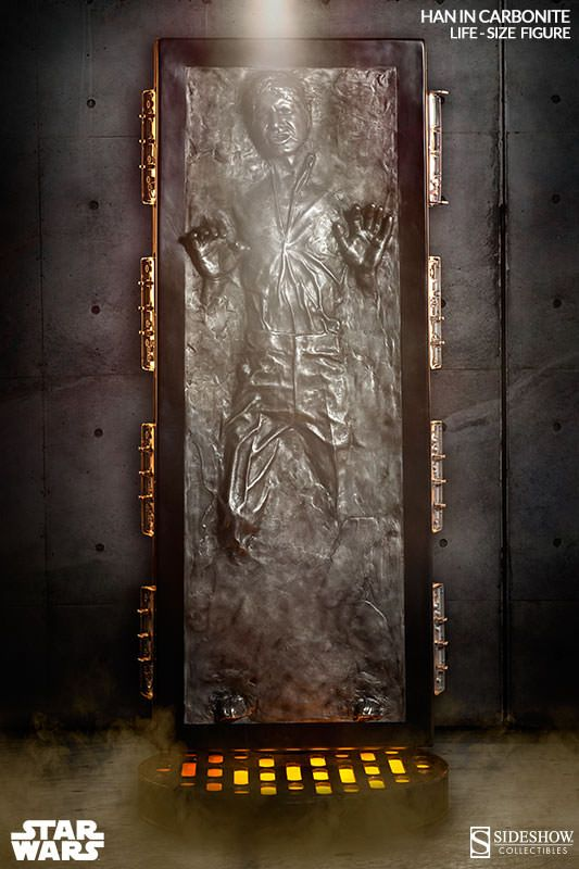 Star Wars Han Solo in Carbonite Life-Size Figure by Sideshow | Sideshow Collectibles