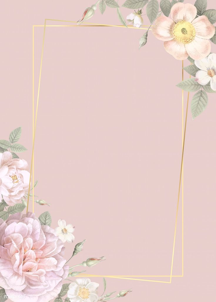 Rose Gold Frame Wallpaper
