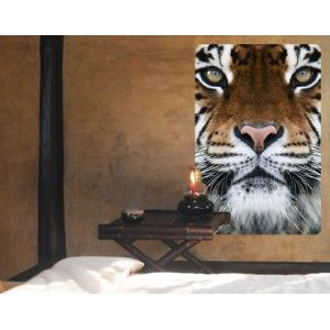 Muursticker tijger ogen   Muurstickers thema wilde dieren