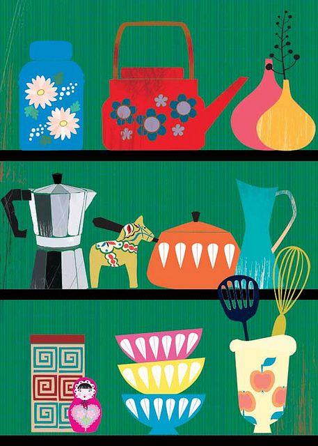 I so want this for my 1966 Winnebago!!!! kitchen-shelf by Sevenstar aka Elisandra, via Flickr