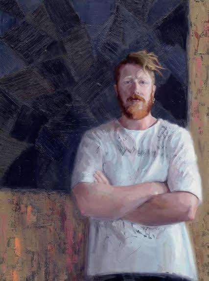 """""""Paint it Black"""" 90x120 cm, oil on linen.  Portrait painting by Carolien van Olphen"""