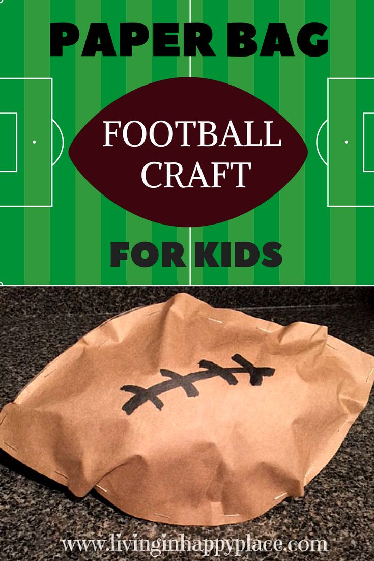 llivKeep the kids busy during the big game with this football activity for kids! It's easy to make and the perfect football craft for preschoolers, toddlers, and all children for football parties and Super Bowl parties. #kidsActivity #FootballActivity #SuperBowlideasforkids via @HappyPlaceMom