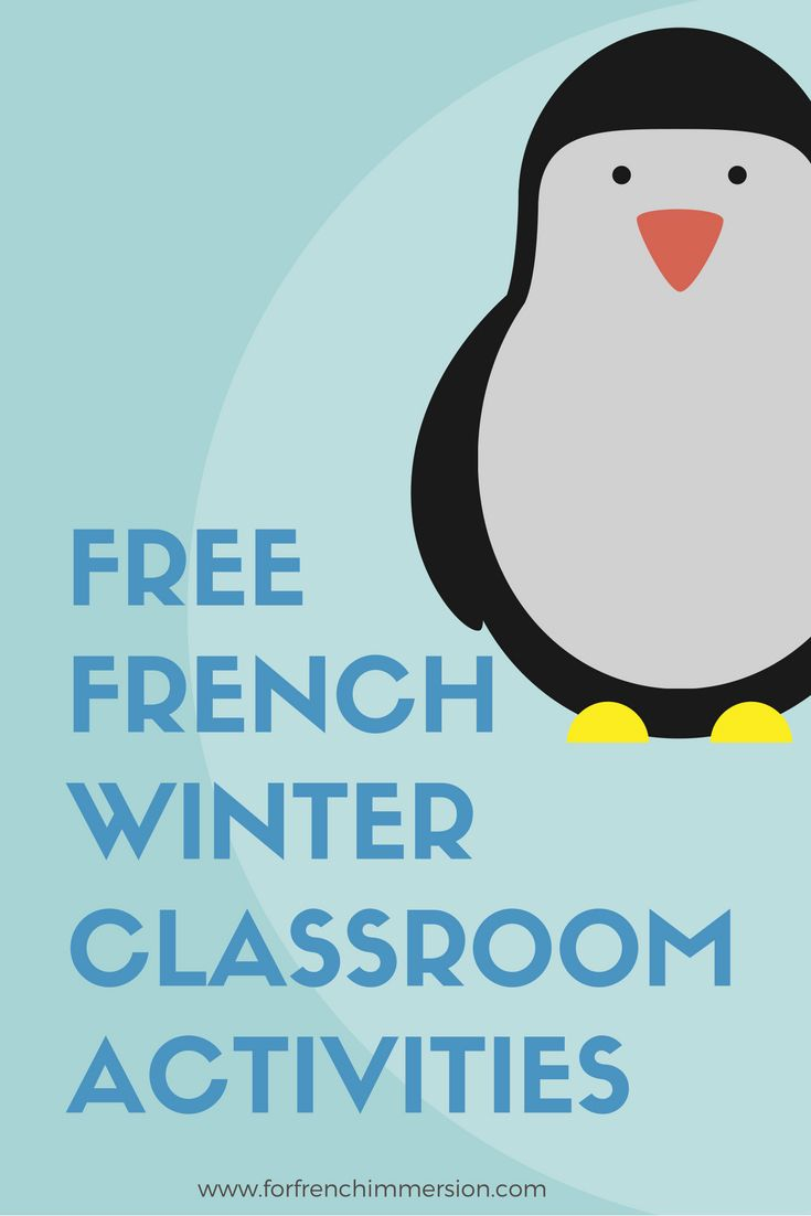 List of FREE French winter classroom activities! Ressources pour l'hiver!
