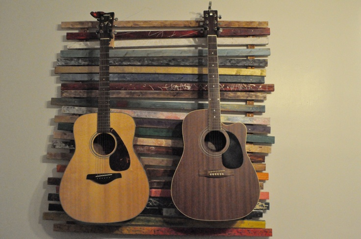 Wall Mount Dual Guitar Stand By Xavishop On Etsy 420 00